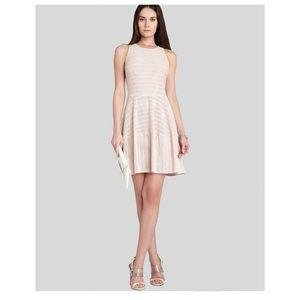 Bcbg maxazria cassandra blush pink fit flare dress
